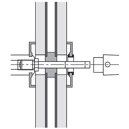 FSB 050177 Wechselstift 8x95mm Türstärke 46-55mm