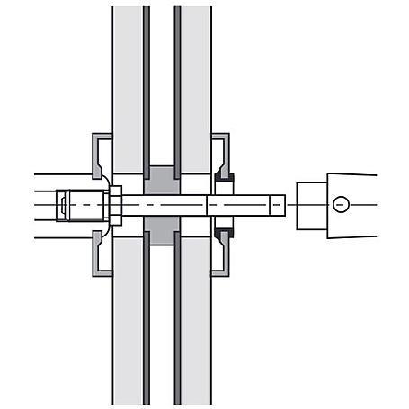 FSB 050177 Wechselstift 10x115mm Türstärke 66-75mm