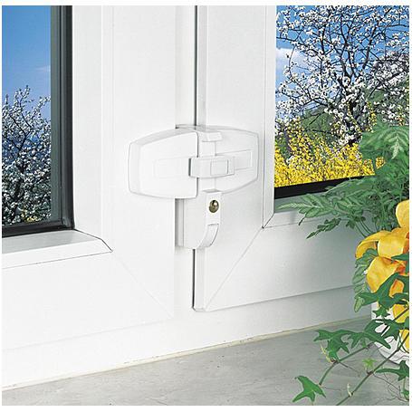 Abus DFS 95 B AL 0089  Fensterschloss - braun