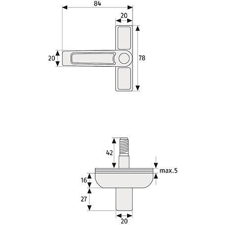 ABUS 2510 W AL0125 Fensterschloss f. Flügelfenster