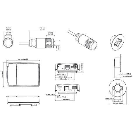 Axis P1224-E IP-Kamera 720p PoE IP66