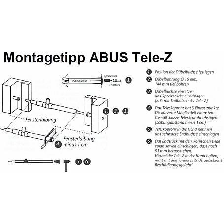 ABUS Tele-Z 180 Chr. AL0125 Teleskopstange chrom