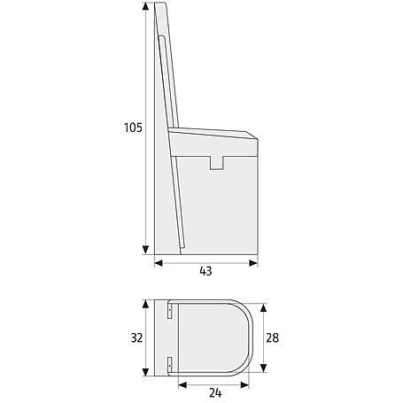 Abus BS84 W AL0125  Balkontür-Sicherung, weiß