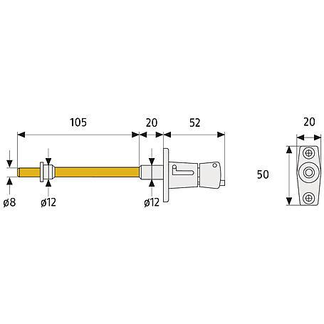 Abus RS87 B B/SB Rollladensicherung, braun