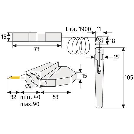 Abus RS77 B SB Rollladensicherung mHandhebel,braun