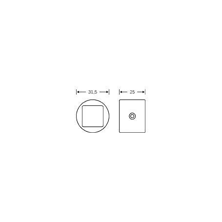 Kunststoff Distanzhülse für Verstärkungsrohr 6719