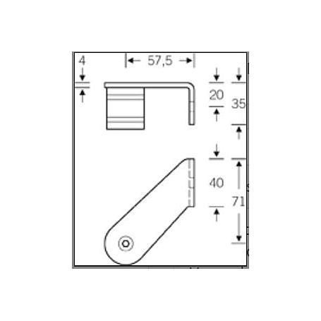 FSB Stütze 45° verkröpft Innenwinkel DIN rechts