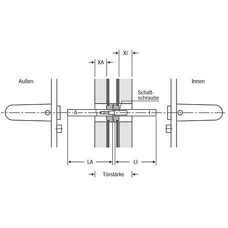 Spezialstift 9x105 mm Stahl verzinkt f. Paniktüren