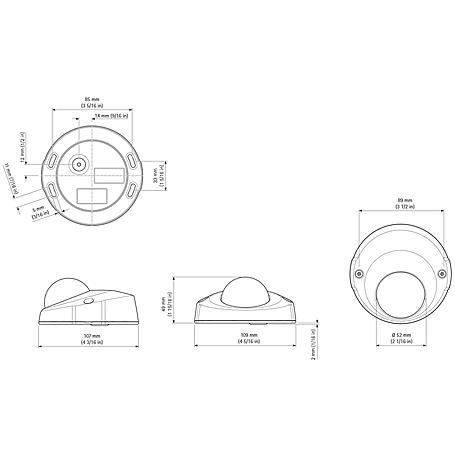 Axis P3915-R M12 IP-Kamera 1080p PoE Aud IP67 IK08