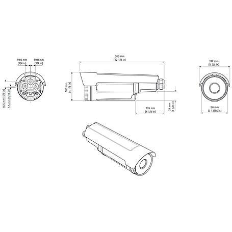 Axis Q1932-E PT 60 mm 30 fps VGA T/N PoE IP66