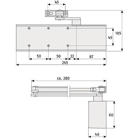 Abus 9603 V silber Türschließer