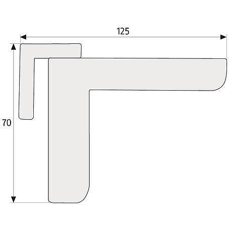ABUS 2603 S Mini-Türschließer, silber