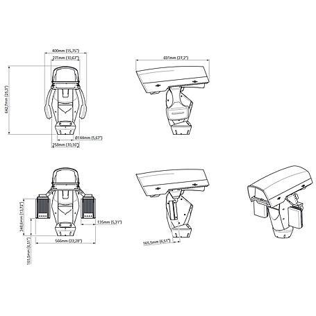 Axis Q8722-E 35 mm 30 fps VGA T/N PTZ 10x IP66