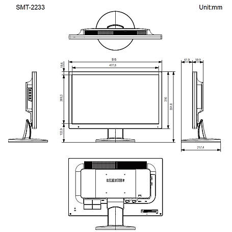 """Hanwha SMT-2233 22"""" LCD/TFT Monitor, LED, HDMI"""
