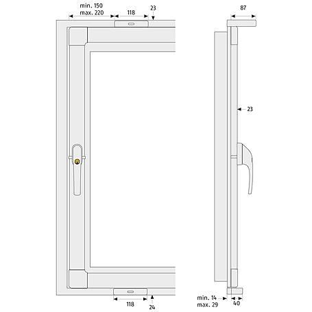 ABUS FKS208 B AL0089 3-Punkt Basis-Paket, braun