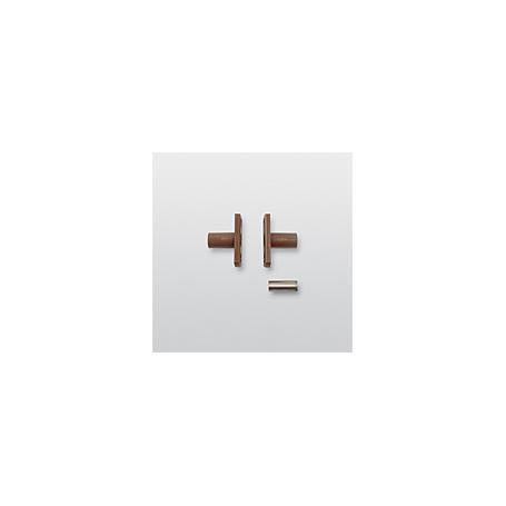 Telenot Einbauflansch f.MK30 f.Hohlprofile, braun