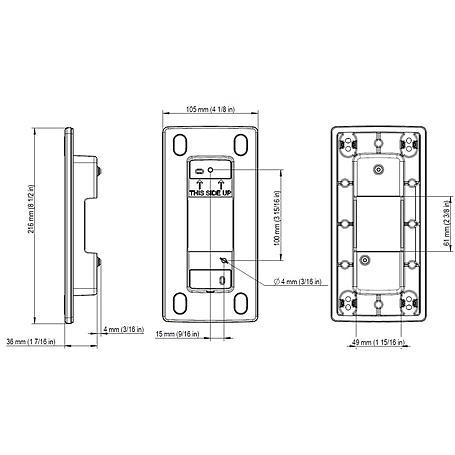 Axis A8105-E Wandeinbaurahmen für A8105-E alu