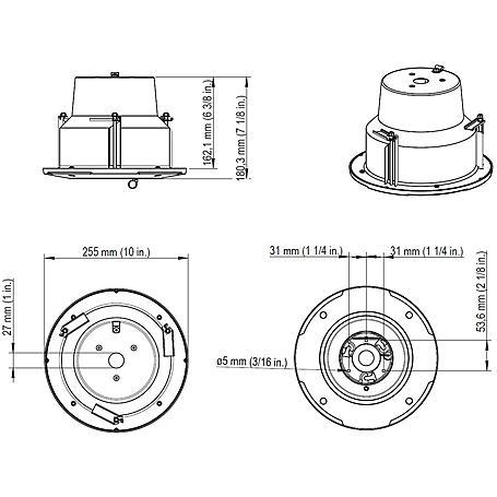 Axis T94A02L Einbaugehäuse für P56-E, innen, weiß