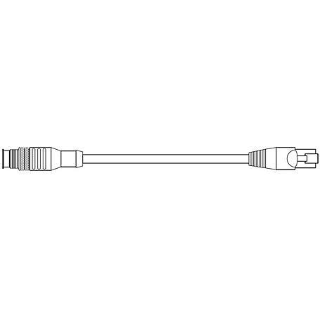 Hanwha EP02-002261A M12 Male nach RJ45 Male, 0,2m