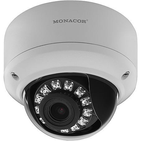 Monacor INC-2812DV IP-Kamera 2MP T/N IR PoE IP66