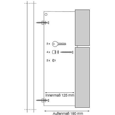 Safepost 12-4 Briefkasten edelstahl