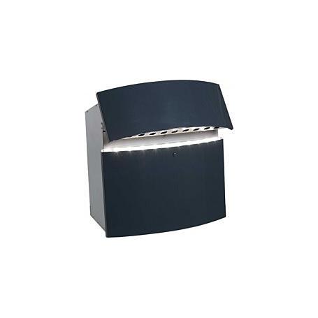 Safepost 12-4 LED Briefkasten anthrazitgrau