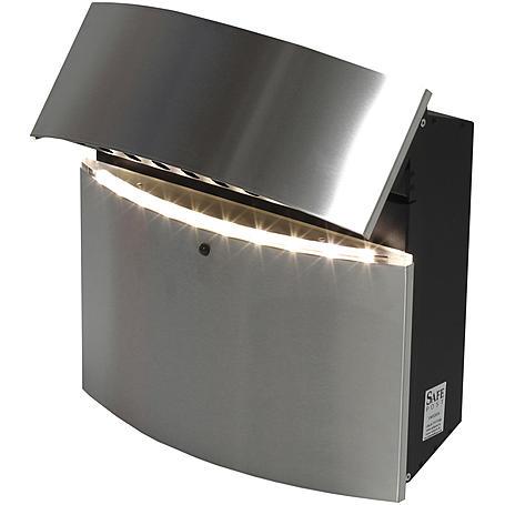 Safepost 12-4 LED Briefkasten edelstahl