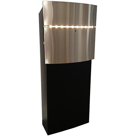 Safepost 12-8 LED Briefkasten edelstahl