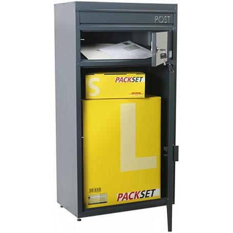 Safepost 65 Briefkasten mit Paketfach anthrazit