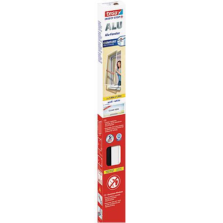tesa® Alu-Fliegengitter Alu Comfort 100x120 weiß