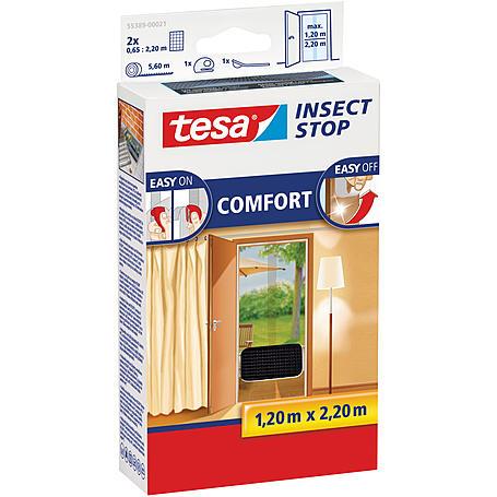 tesa® Fliegengitter Comfort Türe 130x220 anthrazit