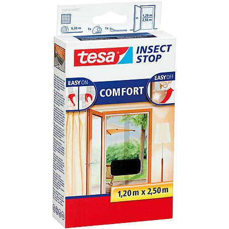 tesa® Fliegengitter Comfort Türe 130x250 anthrazit