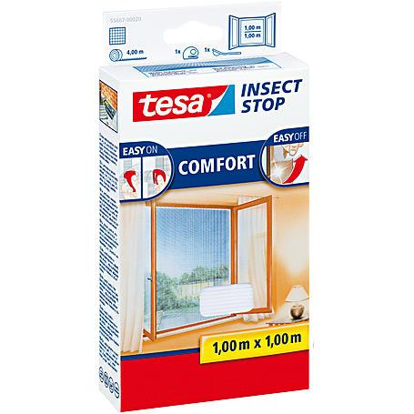 tesa® Fliegengitter Fenster 100x100 weiß
