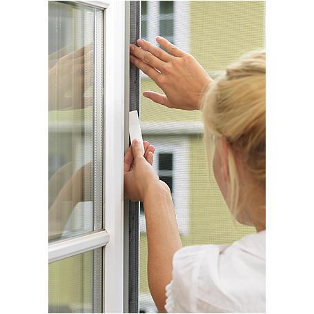 tesa® Fliegengitter Fenster 100x100 anthrazit