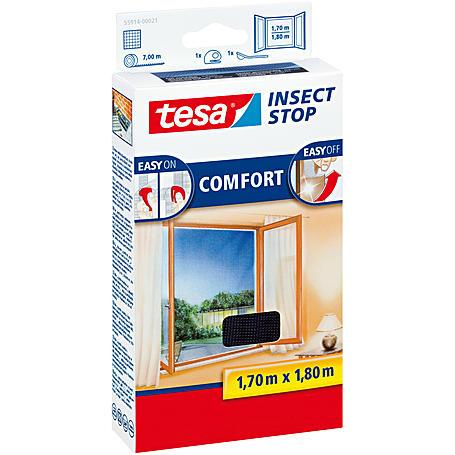 tesa® Fliegengitter Fenster 170x180 anthrazit