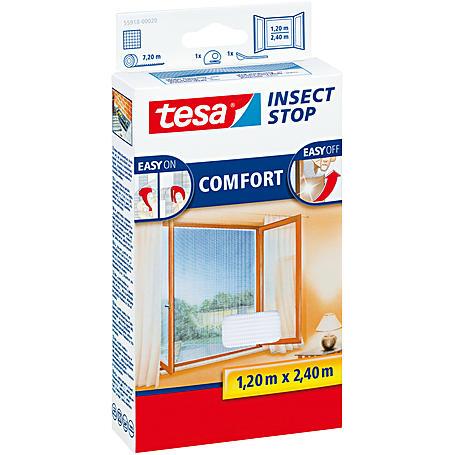 tesa® Fliegengitter Fenster 120x240 weiß