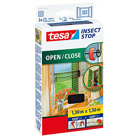 tesa® Fliegengitter Open Close 130x150 anthrazit