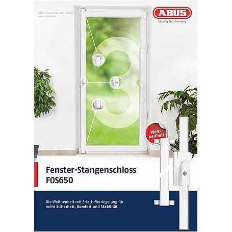 ABUS FOS650 S AL0089 Fensterstangenschloss silber