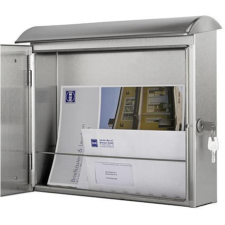 Heibi Briefkasten Quelo-Two 64266-072 Edelstahl
