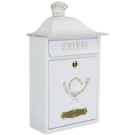 Heibi Briefkasten Mereno 64063-008 Weiß / Gold