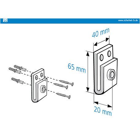 3S Mauerkralle weiß 110mm Innensechskant 2er Set