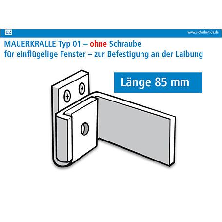3S Mauerkralle braun 85mm 2er Set