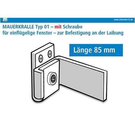 3S Mauerkralle weiß 85mm Innensechskant 2er Set