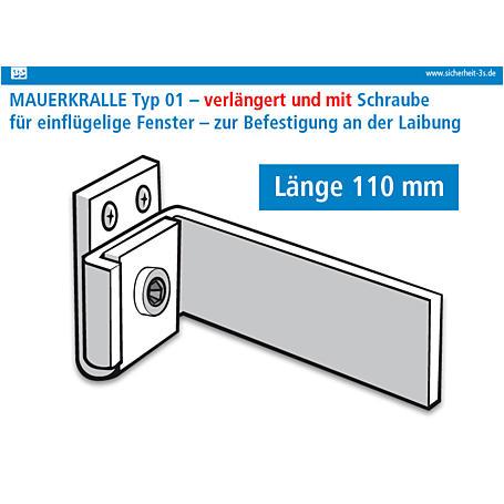 3S Mauerkralle braun 110mm Innensechskant 2er Set