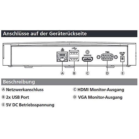 """BURGCAM REC 351 Netzwerkrekorder für 2,5"""" HDD"""