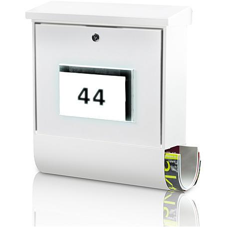 Burg Wächter Malaga 4400 W weiß Briefkasten
