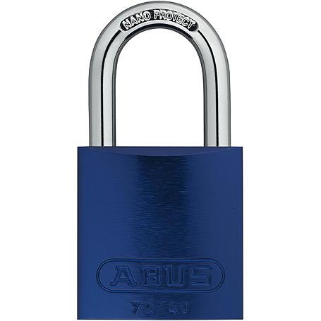 ABUS Aluminium-Vorhangschloss 72/40 blau