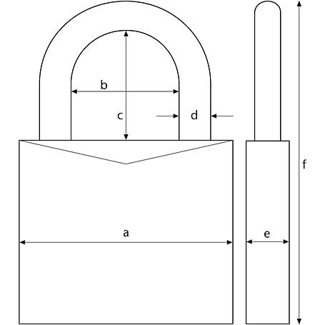 ABUS Aluminium-Vorhangschloss 72/40HB40 blau