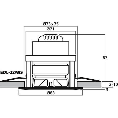 MONACOR EDL-22/WS ELA-Deckenlautsprecher