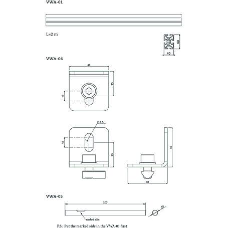 Neovo VWA-05 Verbindungsstück, 12 cm